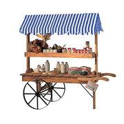 【店舗展示品】【送料実費】木製ディスプレイワゴン【シャレット】屋台 店舗用品