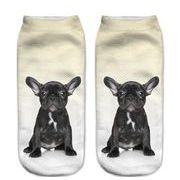 【10足セット】ポリエステル靴下 フットカバー ソックス 脱げにくい pugs dance3D パグ