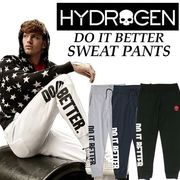 【HYDROGEN】(ハイドロゲン) DO IT BETTER SWEAT PANTS / スウェット パンツ