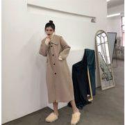 2019年冬新製品発売  韓国ファッション  レディースアウター  中長スタイル ウールコート カジュアル