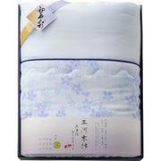 愛知三河木綿 ガーゼ肌布団 ブルー WK8300