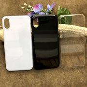 プリント・デコ用素材★iPhone X/Xs兼用☆ハードケース★ポリカーボネート 全3色