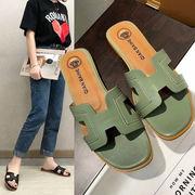 サンダル スリッパ フラット シューズ レディース 靴 シンプル 韓国