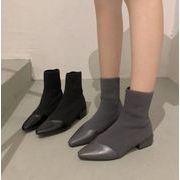 2019秋新作 靴 シンプル マーティンブーツ ソックスブーツ ニット ファッション欧米 ショートブーツ