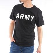 【2019春夏新作】 半袖Tシャツ メンズ クルーネック ARMYプリント アーミープリント 春 夏 ミリタリー