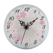 【 さくらシリーズ 】 桜ガラス時計