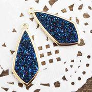 ドゥルージー GL枠ダイヤ型 ブルー 3cm×1.3cm  品番: 10418