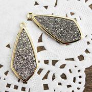 ドゥルージー GL枠ダイヤ型 シルバー 3cm×1.3cm  品番: 10419