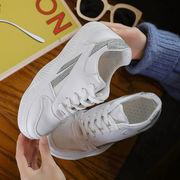 スポーツシューズ 女 新しいデザイン 韓国風 フラット ファッション 白い靴 学生靴 何