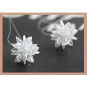 【秋冬アクセサリー】人工合成ジルコンジュエリーで加工 雪の結晶モチーフ 雪の華