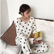 新作パジャマ 女性 2色 早春新作 韓国風 長袖 おしゃれ  かわいい  ルームウェア ナイトウェア 部屋着