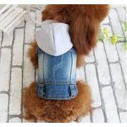 春夏新作  小中型犬服  超人気  超可愛い  ペット服  デニムベスト  ペット雑貨   ペット用品  ネコ雑貨