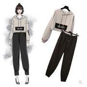 【大きいサイズXL-5XL】ファッション/人気/上下セットトップス♪グレー/ブラック2色展開◆