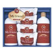 (石鹸・洗剤)(石鹸/メソッド/ボディソープギフト)牛乳石鹸 マイフレンド ボディソープセット BMF-15
