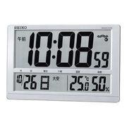 (クロック/ウォッチ)(デジタル時計)セイコー 温度・湿度表示付 大型液晶電波クロック SQ433S