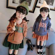 秋冬 新しいデザイン 韓国風 キッズ洋服 児童 足 カラー + 魏のドレス ファッション