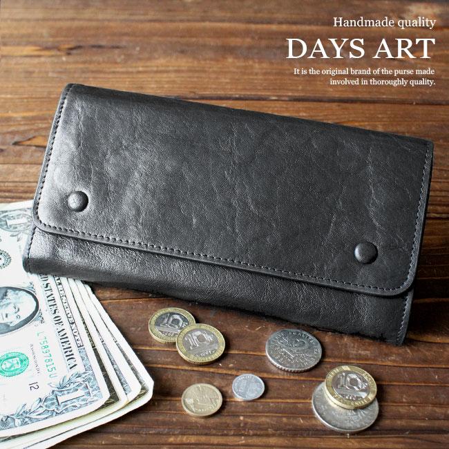 長財布 レザーウォレット 本革 大容量カード入れ 斜めポケット シボ革 小銭入れあり