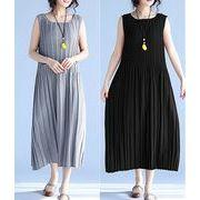 【春夏新作】ファッション/人気ワンピース♪グレー/ブラック2色展開◆