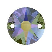 スワロフスキー(R) クリスタル 縫いつけストーン 丸型ストーン パラダイスシャイン オーロラ加工