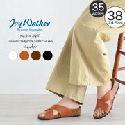 【joy walker】 レディースサイズ クロス ウエッジ サンダル 4色