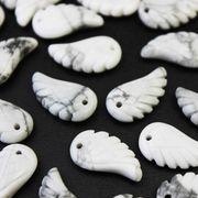 【一粒売り】バラ石 天使の羽 翼 フェザー ハウライト  品番: 10720