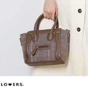 春新作 グレンチェックラゲージバッグ 【即納】 バッグ グレンチェック レディース ラゲージバッグ