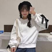 ★★即納、半額から、在庫売り尽くしセール中!★★ 韓国風 秋 新しいデザイン カレッジ風 長袖 ルー