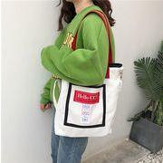 バッグ トートバッグ エコバッグ 大容量 原宿風 ズックバッグ 学生 キャンバス 韓国