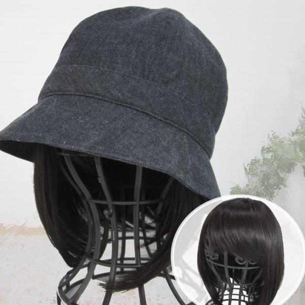 医療用帽子 かんたんウィッグ ボブ 毛付き帽子 T320BR
