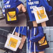 バッグ エコバッグ トートバッグ 個性派 学生 オシャレ カラーマッチング ショルダーバッグ 韓国