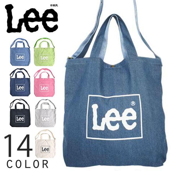 リー Lee コットン ビッグ2wayトートバッグ ショルダーバッグ A4収納 大容量 0425371
