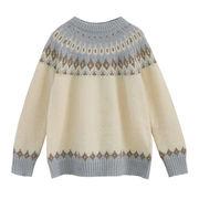 複数色 セーターの女性 冬 新しいデザイン アンティーク調 何でも似合う 手厚い 長袖