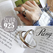 vnsh000466◆5000以上【送料無料】◆シルバー925リング◆開口指輪 X型
