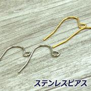 【ピアス】【ステンレス 316L】 フィッシュピアス /アクセサリー/ハンドメイド素材/