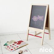 生活 雑貨 nico kids ウッド 黒板スタンド キッズ ギフト