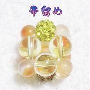 天然石 帯留め 和装アクセサリー 貴水晶 メノウ ハンドメイド 日本製 スカーフ留め  OD
