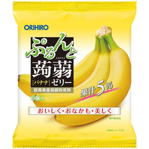 ぷるんと蒟蒻ゼリーパウチ バナナ