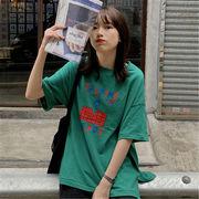 初回送料無料 2019 カジュアル ゆったり 半袖 Tシャツ 全3色 gjfch-19cs17春夏 新作