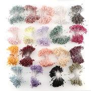1束 造花用花蕊 つや消し 選べる19色 全長約6cm 髪飾りやブローチなどの制作に アクセサリー 手作り 手芸