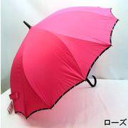 【雨傘】【長傘】シームレス(一枚張り)耐風骨ストライプパイピング無地ジャンプ傘