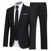 この季節に大活躍 大人の魅力上品  スーツ  紳士服 フォーマル新社会人 メンズファッション 2点セット