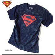 ★大人気のアメコミスーパーヒーロー「DCコミック」のスーパーマン総柄プリントSマークラメTシャツ★