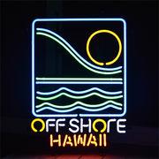 アメリカン雑貨 看板 ネオンサイン OFF SHORE HAWAII オフショア (ハワイ)