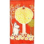 のれん 85x150cm ムーミン「リトルミイの木登り」【日本製】コスモ