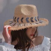 ★2019春夏新作★刺繍 日除け 日焼け止め 麦わら帽子 編み帽子 休暇 オシャレ