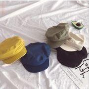 新作 子供帽子 キャップ ベレー帽  帽子 日焼け止め シンプル オシャレ 無地 可愛い 純色