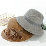 ★2019春夏新作★クロッシェ 帽子 レディース 日除け 花 韓国風 ファッション