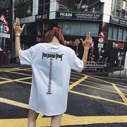 春夏新商品730559 大きいサイズ 韓国 レディース ファッション Tシャツ ワンピース  LL-4L