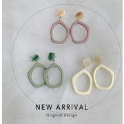 ピアス イアリング アクリル 不規則 シンプル 韓国  幾何 配色 ファッション