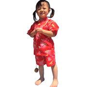 カワイイ女の子向けの和柄のじんべい ホタル柄 金魚柄 折鶴柄 100/110/120